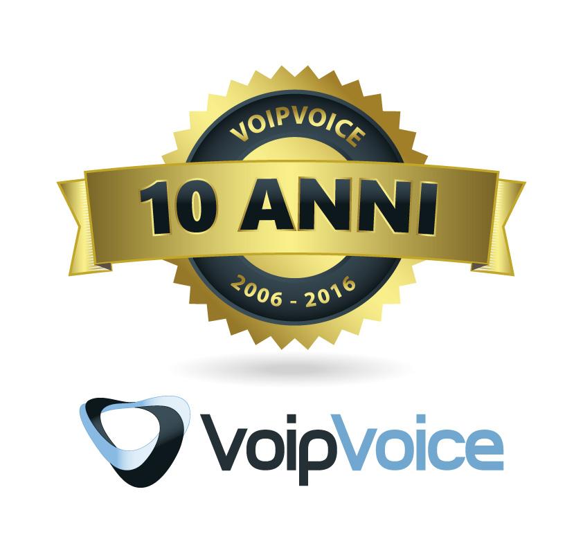 Logo 10 Anni VoipVoice