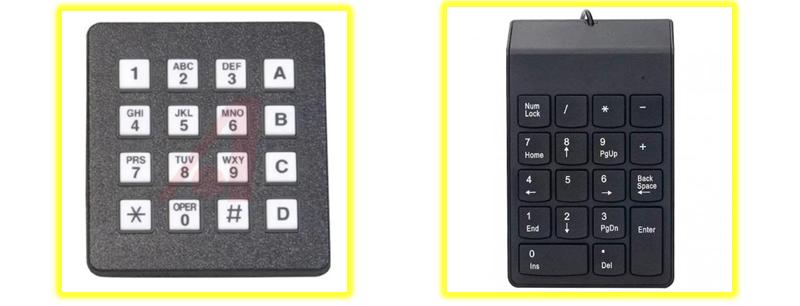 La tastiera telefonica DTMF a confronto con il tastierino numerico dei PC