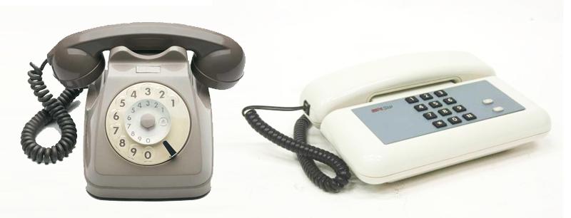 Telefono a disco e telefono a tastiera dtmf